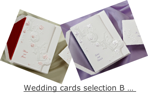 Wedding cards selection B …